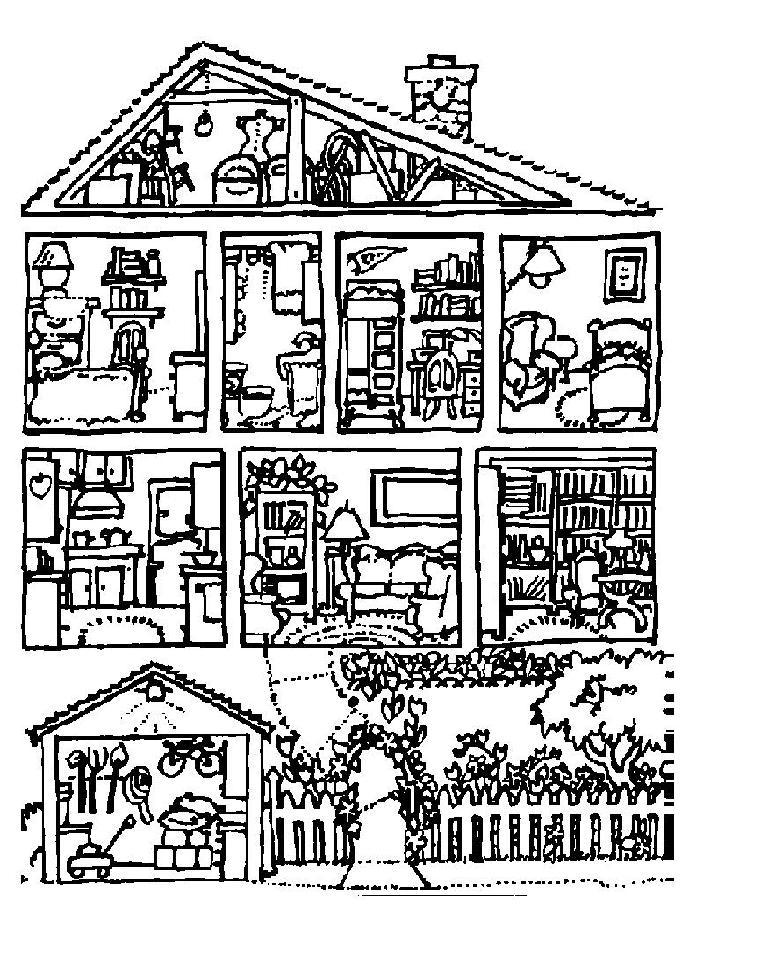 Free Coloring Pages Of Rooms Of The House