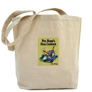 Mrs. Mouse logo large canvas tote bag